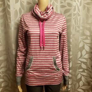ROXY Striped Turtleneck Sweatshirt